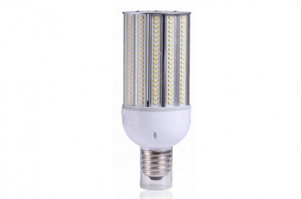 E27 LED-Strassenlampe LED160STR27Lo Hochvolt warmweiss (3000°K) IP64, 4KV, inkl. Stütze. Einsetzbar im Spannungsbereich: 100-277V AC