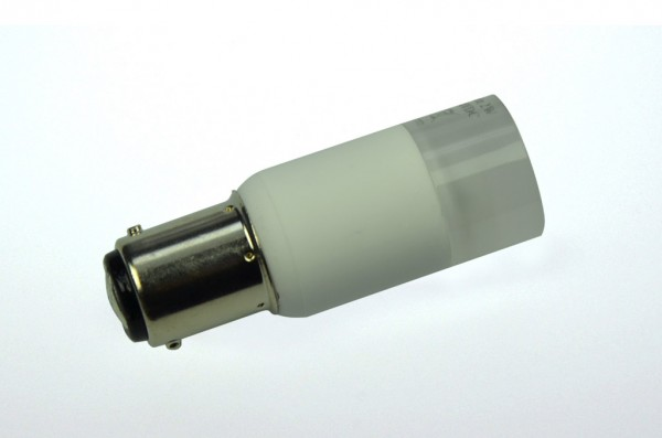 BA15D LED-Bajonettsockellampe LED3TuBADL Niedervolt DC-kompatibel (gleichstrom-fähig) warmweiss (2700°K) dimmbar. Einsetzbar im Spannungsbereich: 10-18V AC
