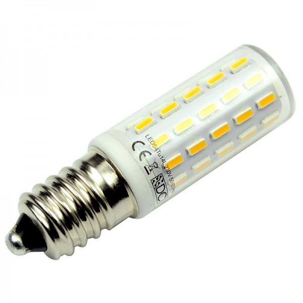 E14 LED-Tubular LED54TU14L Hochvolt DC-kompatibel (gleichstrom-fähig) warmweiss (2900°K) kleine Bauform, . Einsetzbar im Spannungsbereich: 100-240V AC