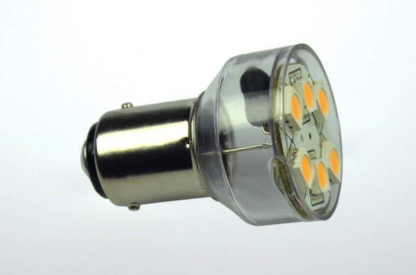 BA15D LED-Bajonettsockellampe LED6MBAL Niedervolt DC-kompatibel (gleichstrom-fähig) warmweiss (3000°K) dimmbar. Einsetzbar im Spannungsbereich: 10-18V AC