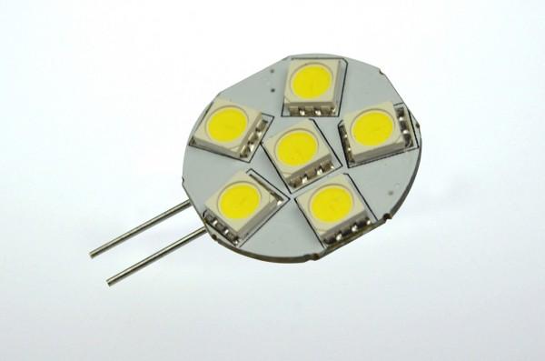 G4 LED-Modul LED6MG4LKW Niedervolt DC-kompatibel (gleichstrom-fähig) kaltweiss (6000°K) dimmbar. Einsetzbar im Spannungsbereich: 10-18V AC