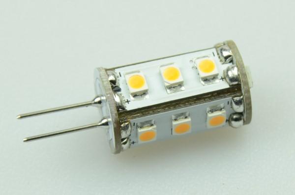G4 LED-Stiftsockellampe LED15STG4L Niedervolt DC-kompatibel (gleichstrom-fähig) warmweiss (3000°K) dimmbar. Einsetzbar im Spannungsbereich: 10-18V AC