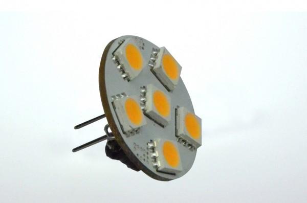 GZ4 LED-Modul LED6MZ4L Niedervolt DC-kompatibel (gleichstrom-fähig) warmweiss (3000°K) dimmbar. Einsetzbar im Spannungsbereich: 10-18V AC