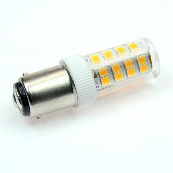 BA15D LED-Tubular LED51TUBADL Hochvolt warmweiss (2700°K) kleine Bauform. Einsetzbar im Spannungsbereich: 220-240V AC