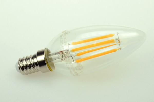E14 LED-Kerze LED4xFK14LK Hochvolt warmweiss (2700-2900°K) . Einsetzbar im Spannungsbereich: 220-240V AC