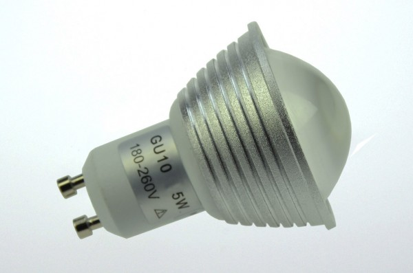 GU10 LED-Spot PAR16 LED9S10LDKW Hochvolt DC-kompatibel (gleichstrom-fähig) kaltweiss (6000°K) dimmbar. Einsetzbar im Spannungsbereich: 180-260V AC