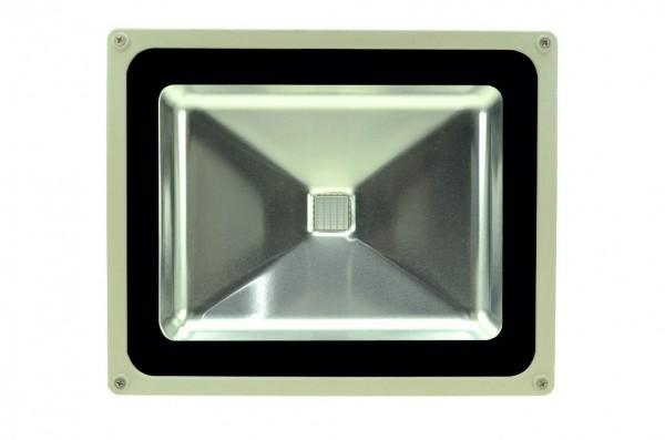LED-Flutlichtstrahler Hochvolt LED50F22Luvo ultraviolett 395-405 Nm . Einsetzbar im Spannungsbereich: 100-240V AC