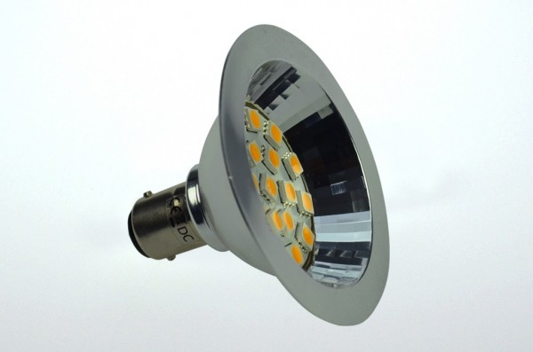 BA15D LED-Bajonettsockellampe AR70 LED18AR70BADL Niedervolt DC-kompatibel (gleichstrom-fähig) warmweiss (3000°K) dimmbar. Einsetzbar im Spannungsbereich: 10-18V AC