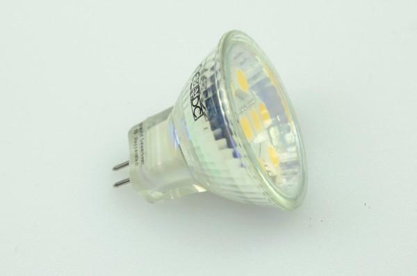 GU4 LED-Spot MR11 LED8SU4LNW Niedervolt DC-kompatibel (gleichstrom-fähig) neutralweiss (4000°K) dimmbar. Einsetzbar im Spannungsbereich: 10-18V AC
