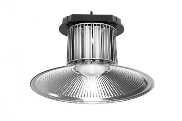 LED-Hallentiefstrahler Hochvolt DC-kompatibel (gleichstrom-fähig) LED100HL722LoKW kaltweiss (6500°K) . Einsetzbar im Spannungsbereich: 85-265V AC 127-350V DC