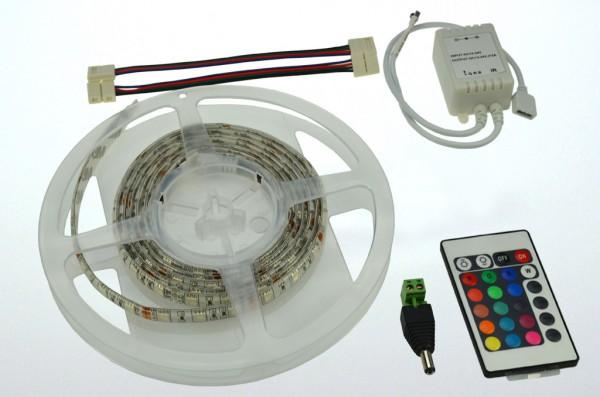 LED-Lichtband Niedervolt DC-kompatibel (gleichstrom-fähig) LED60RGBKit2m RGB (rgb°K) dimmbar. Einsetzbar im Spannungsbereich: 12V DC