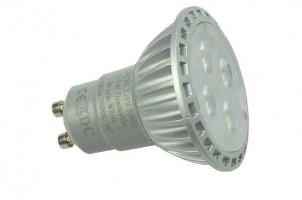 GU10 LED-Spot PAR16 LED4S10SDKW Hochvolt kaltweiss (6500°K) dimmbar. Einsetzbar im Spannungsbereich: 230V AC