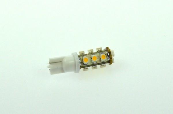 T10 LED-Stiftsockellampe LED15STT10LKW Niedervolt DC-kompatibel (gleichstrom-fähig) kaltweiss (6500°K) . Einsetzbar im Spannungsbereich: 10-18V AC