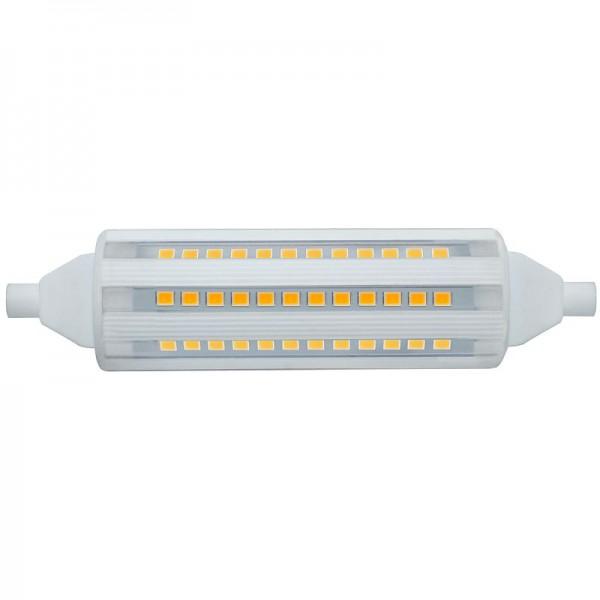 R7S LED-Stablampe LEDR7sCera118N Hochvolt DC-kompatibel (gleichstrom-fähig) warmweiss (3000°K) rundabstrahlend. Einsetzbar im Spannungsbereich: 220-240V AC