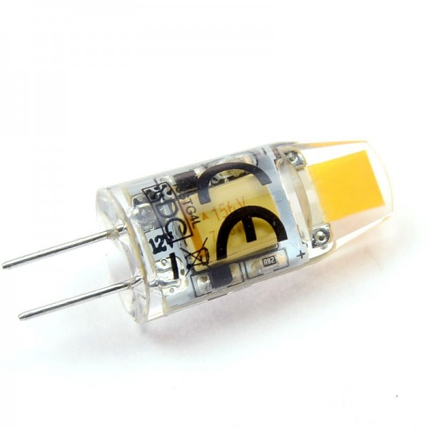 G4 LED-Stiftsockellampe LED1CSTG4L Niedervolt DC-kompatibel (gleichstrom-fähig) warmweiss (2700°K) -. Einsetzbar im Spannungsbereich: 10-24V AC