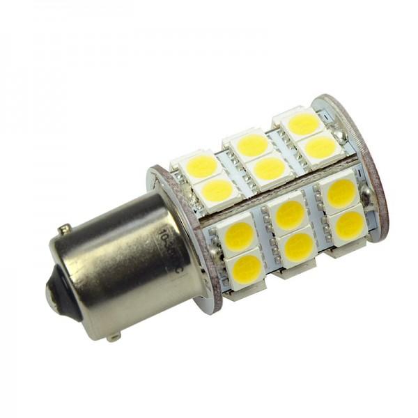 BA15S LED-Bajonettsockellampe LED30STBASL Niedervolt DC-kompatibel (gleichstrom-fähig) warmweiss (3000°K) . Einsetzbar im Spannungsbereich: 10-18V AC