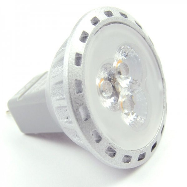 GU4 LED-Spot MR11 LED3SU4SNW Niedervolt DC-kompatibel (gleichstrom-fähig) neutralweiss (4000°K) dimmbar. Einsetzbar im Spannungsbereich: