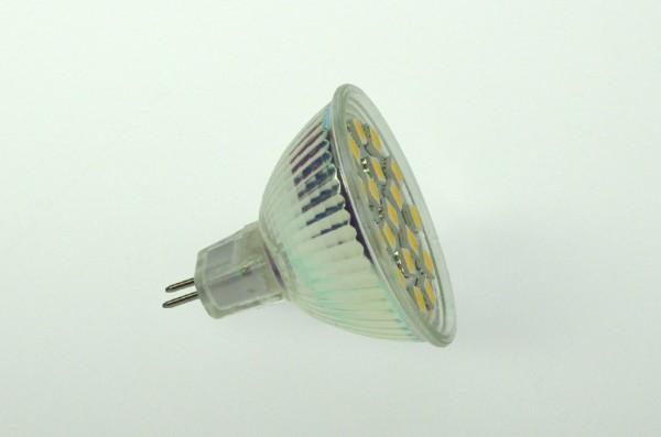 GU5.3 LED-Spot PAR16 LED18S53L Niedervolt DC-kompatibel (gleichstrom-fähig) warmweiss (3000°K) dimmbar. Einsetzbar im Spannungsbereich: 10-18V AC
