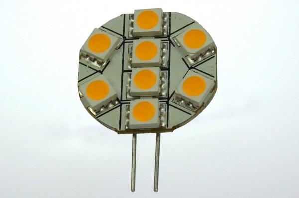 G4 LED-Modul LED8MG4L Niedervolt DC-kompatibel (gleichstrom-fähig) warmweiss (2800°K) dimmbar. Einsetzbar im Spannungsbereich: 10-18V AC