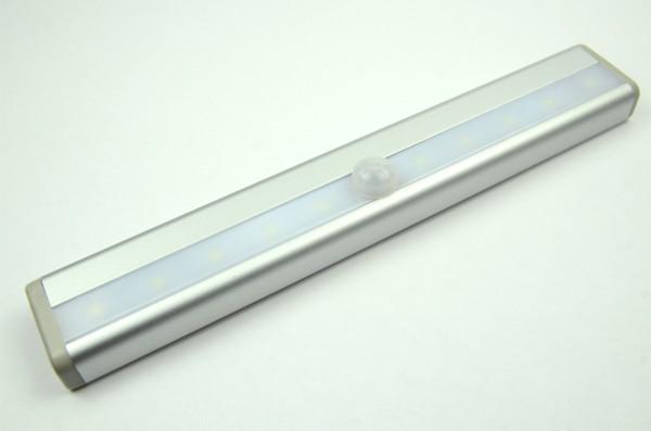 LED-Lichtleiste batteriebetrieben 0 DC-kompatibel (gleichstrom-fähig) LED10LLKWB kaltweiss (12000°K) Bewegungsmelder. Einsetzbar im Spannungsbereich: 3-6V DC