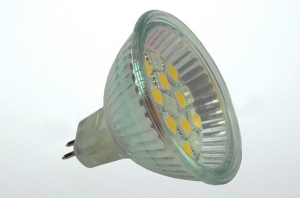 GU5.3 LED-Spot PAR16 LED16S53Lwwr Niedervolt DC-kompatibel (gleichstrom-fähig) warmweiss/rot Wechselschaltung. Einsetzbar im Spannungsbereich: 10-18V AC