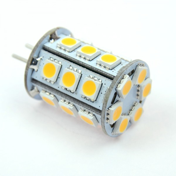 GY6.35 LED-Stiftsockellampe LED24STG6L Niedervolt DC-kompatibel (gleichstrom-fähig) warmweiss (3000°K) dimmbar. Einsetzbar im Spannungsbereich: 10-18V AC