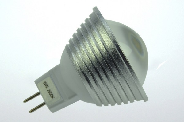 GU5.3 LED-Spot PAR16 LED9S53LDKW Niedervolt DC-kompatibel (gleichstrom-fähig) kaltweiss (6000°K) dimmbar. Einsetzbar im Spannungsbereich: 10-18V AC