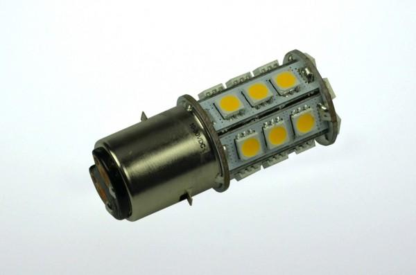 BA20D LED-Bajonettsockellampe LED24STBA20DL Niedervolt DC-kompatibel (gleichstrom-fähig) warmweiss (3000°K) dimmbar. Einsetzbar im Spannungsbereich: 10-18V AC