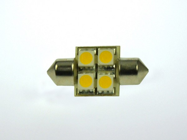 S8x31 LED-Soffitte LED4So31L Niedervolt DC-kompatibel (gleichstrom-fähig) warmweiss (3000°K) dimmbar. Einsetzbar im Spannungsbereich: 10-18V AC