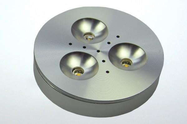 LED-Aufbauleuchte Niedervolt DC-kompatibel (gleichstrom-fähig) LED3x1CPLS warmweiss (3000°K) . Einsetzbar im Spannungsbereich: 12V DC
