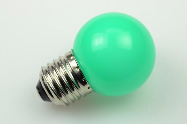 E27 LED-Globe LB45 LED6G4527Lgr Hochvolt grün (520-530nm°K) . Einsetzbar im Spannungsbereich: 220-240V AC
