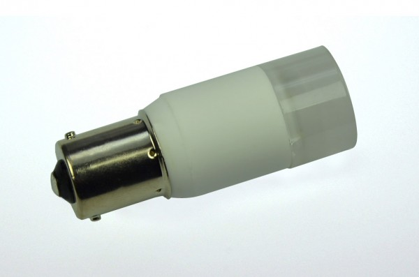 BA15S LED-Bajonettsockellampe LED3TuBASL Niedervolt DC-kompatibel (gleichstrom-fähig) warmweiss (2700°K) dimmbar. Einsetzbar im Spannungsbereich: 10-18V AC