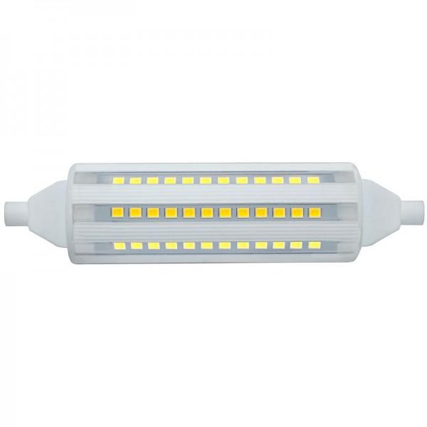 R7S LED-Stablampe LEDR7sCera118W Hochvolt DC-kompatibel (gleichstrom-fähig) kaltweiss (6400°K) rundabstrahlend. Einsetzbar im Spannungsbereich: 220-240V AC