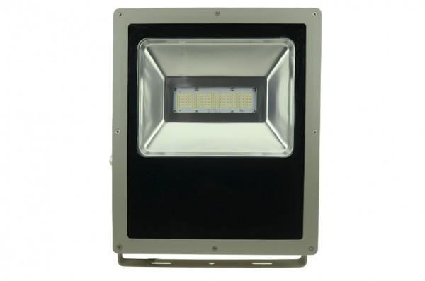 LED-Flutlichtstrahler Hochvolt DC-kompatibel (gleichstrom-fähig) LED100Fx22Lo warmweiss (2700-3000°K) flache Bauweise. Einsetzbar im Spannungsbereich: 100-240V AC 120-230V DC