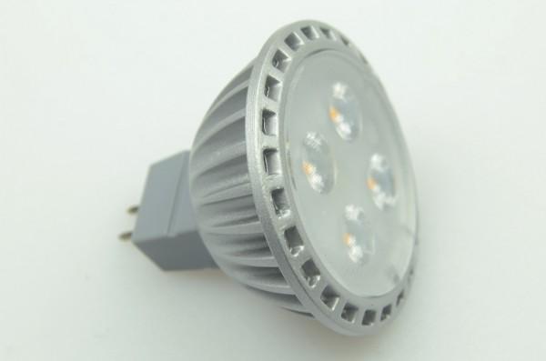 GU5.3 LED-Spot PAR16 LED4S53SD Niedervolt DC-kompatibel (gleichstrom-fähig) warmweiss (2700°K) dimmbar. Einsetzbar im Spannungsbereich: 12V AC