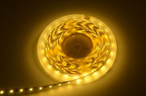 LED-Lichtband Niedervolt DC-kompatibel (gleichstrom-fähig) LED60B100w35ge Gelb dimmbar. Einsetzbar im Spannungsbereich: 12V DC