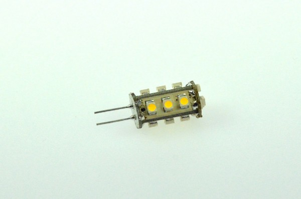G4 LED-Stiftsockellampe LED15STG4LKW Niedervolt DC-kompatibel (gleichstrom-fähig) kaltweiss (6000°K) dimmbar. Einsetzbar im Spannungsbereich: 10-18V AC
