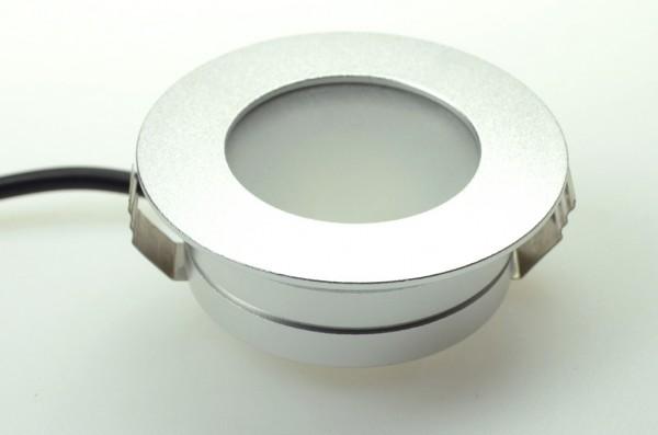 LED-Downlight Niedervolt DC-kompatibel (gleichstrom-fähig) LED8DL22Lo warmweiss (3000°K) . Einsetzbar im Spannungsbereich: 12V AC 10-30V DC
