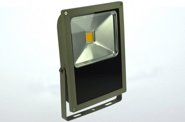 LED-Flutlichtstrahler Hochvolt DC-kompatibel (gleichstrom-fähig) LED70Fx22Lo warmweiss (2700-3000°K) flache Bauweise, . Einsetzbar im Spannungsbereich: 100-240V AC 120-230V DC