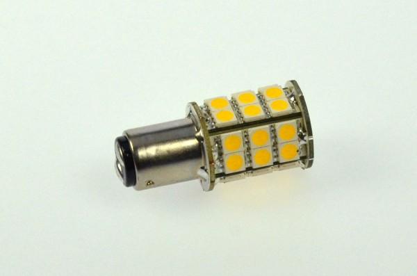 BA15D LED-Bajonettsockellampe LED30STBADL Niedervolt DC-kompatibel (gleichstrom-fähig) warmweiss (3000°K) dimmbar. Einsetzbar im Spannungsbereich: 10-18V AC