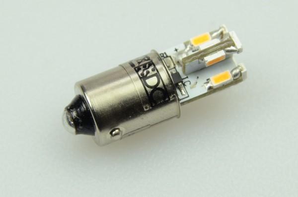 BA9S LED-Bajonettsockellampe LED12STBA9SLKW Niedervolt DC-kompatibel (gleichstrom-fähig) kaltweiss (6000°K) kleine Bauform. Einsetzbar im Spannungsbereich: 12V AC