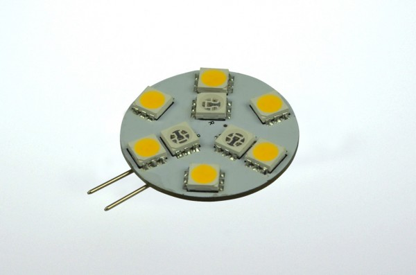 G4 LED-Modul LED9MG4Lwwr Niedervolt DC-kompatibel (gleichstrom-fähig) warmweiss/rot (3000 / 623Nm°K) Wechselschaltung. Einsetzbar im Spannungsbereich: 10-18V AC