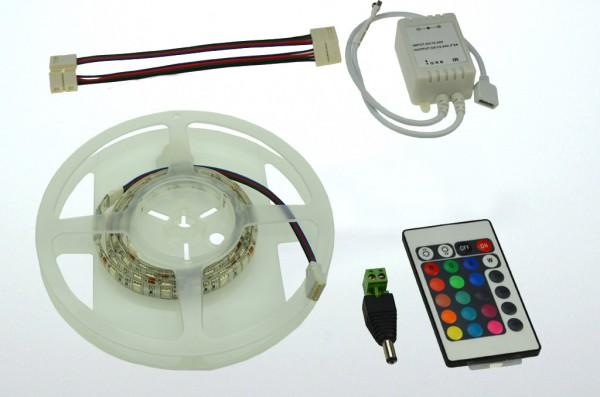 LED-Lichtband Niedervolt DC-kompatibel (gleichstrom-fähig) LED60RGBKit1m RGB (rgb°K) dimmbar. Einsetzbar im Spannungsbereich: 12V DC