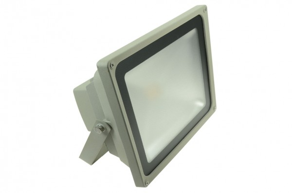 LED-Flutlichtstrahler Hochvolt LED50FS22Lo warmweiss (3000°K) . Einsetzbar im Spannungsbereich: 100-240V AC