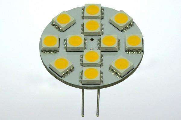 G4 LED-Modul LED12MG4L Niedervolt DC-kompatibel (gleichstrom-fähig) warmweiss (2900°K) dimmbar. Einsetzbar im Spannungsbereich: 10-18V AC