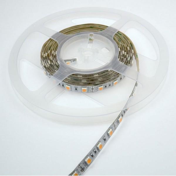 LED-Lichtband Niedervolt DC-kompatibel (gleichstrom-fähig) LED60B100w50ww warmweiss (2000°K) Meterware, extra warm. Einsetzbar im Spannungsbereich: 12V DC