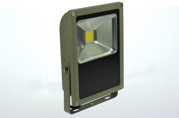 LED-Flutlichtstrahler Hochvolt DC-kompatibel (gleichstrom-fähig) LED50Fx22LoKW kaltweiss (5800-6800°K) flache Bauweise. Einsetzbar im Spannungsbereich: 100-240V AC 120-230V DC