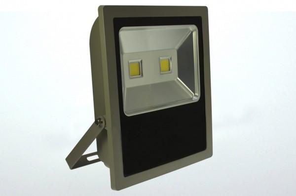 LED-Flutlichtstrahler Hochvolt DC-kompatibel (gleichstrom-fähig) LED100Fx22LoKW kaltweiss (5800-6800°K) flache Bauweise. Einsetzbar im Spannungsbereich: 100-240V AC 120-230V DC