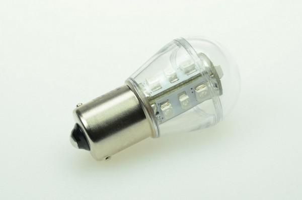 BA15S LED-Miniglobe LED15G25BASLgr Niedervolt DC-kompatibel (gleichstrom-fähig) Grün Signallampe. Einsetzbar im Spannungsbereich: 10-18V AC