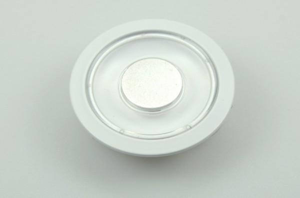 LED-Aufbauleuchte Niedervolt DC-kompatibel (gleichstrom-fähig) LED12DLLTD warmweiss (2700°K) Dimmschalter. Einsetzbar im Spannungsbereich: 10-15V DC